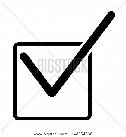 Check mark icon, Black check box with check mark