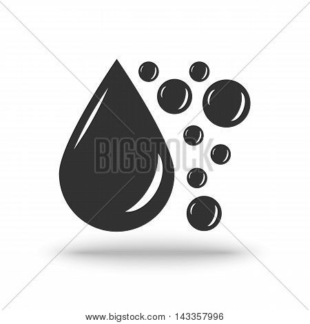 Oil Drop vector icon on a white background with shadow