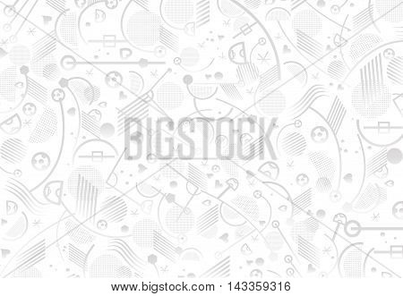 Soccer abstract pattern. European Championship soccer light background. Vector illustration for Art, Print, Web design. Abstract football lines and shapes geometric pattern.
