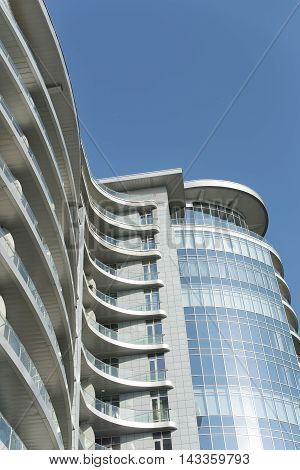 Kiev city modern architecture in a summer day