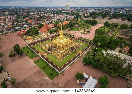 Wat Phra That Luang Vientiane Lao PDR