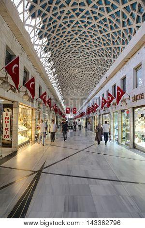 Uzun Carci Bazaar In Bursa City, Turkey