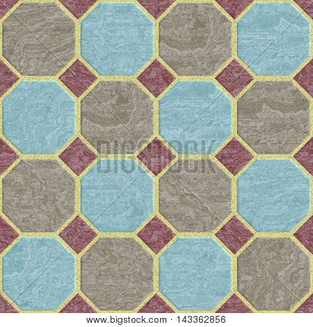 Floor tiles seamless generated hires texture or background, 3D illustration