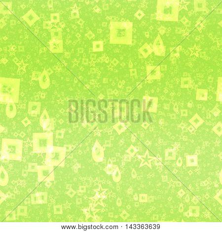 Neon green shape symbols generated seamless texture