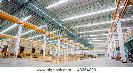Interior of metallurgical plant workshop, Thailand, Asia