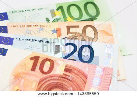 Euros - 100, 50, 20 and 10 euro