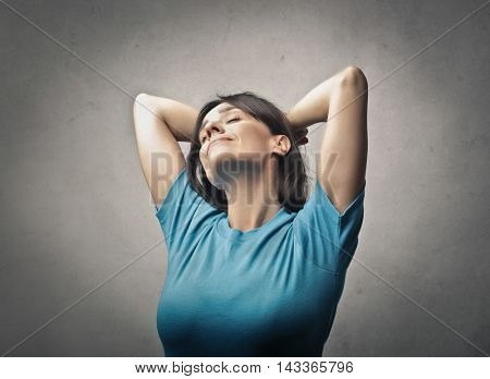 portrait of a relaxed woman