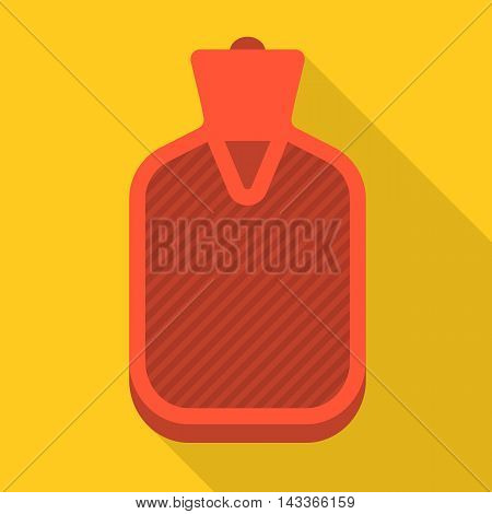 Vector hot water bag, flat design with long shadow