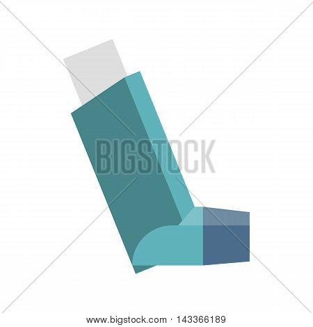 Vector blue inhaler, flat design no background