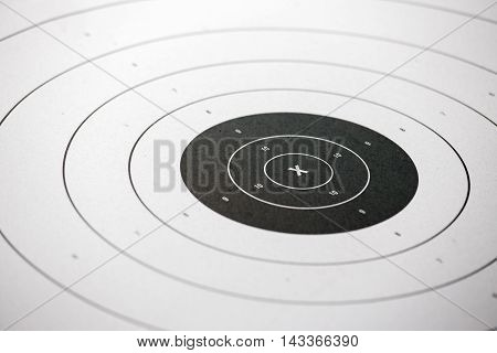'x' on paper shooting target for shooting practice in law enforcement academy shooting range focus on 'X'