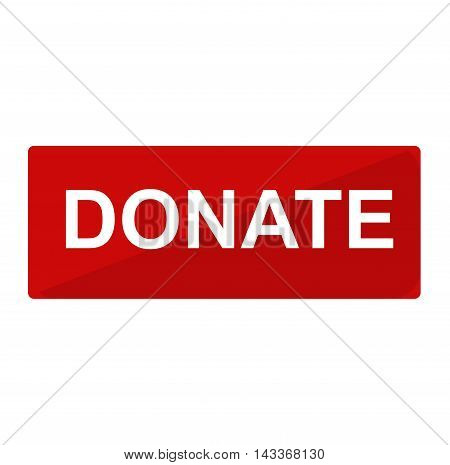 Simple donate button vector icon. Color card beautiful emoticon symbol. Abstract art icon decoration. Help shape design. Donate symbol.