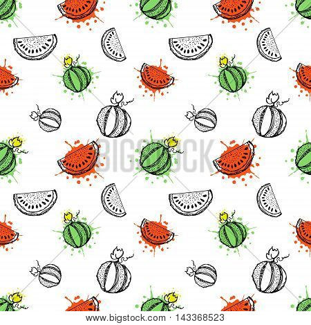 Vector Seamless Fruits Pattern
