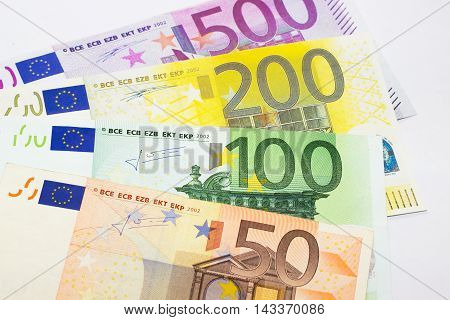 Euros - 500, 200, 100 and 50 euros