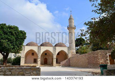 Rethymno city Greece Mosque Veli Pasa landmark architecture