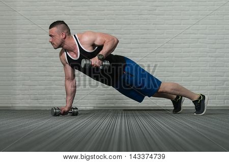 Push Ups With Dumbbells