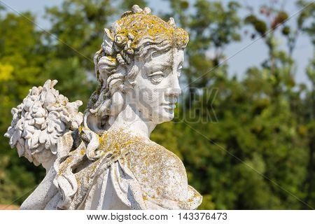 Statue In The Courtyard Of The Castle Schloss Hof, Austria