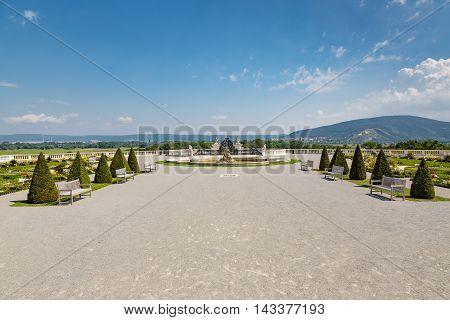 Courtyard Of The Castle Schloss Hof In Lower Austria