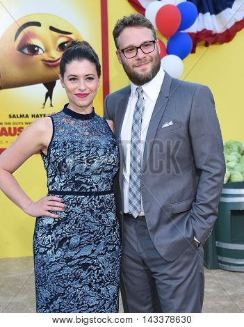 LOS ANGELES - AUG 09:  Seth Rogen and Lauren Miller arrives to the