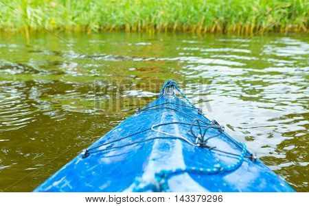 Kayaking By Wild River In Poland (omulew River)