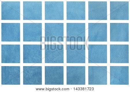 Watercolor Blue Squares