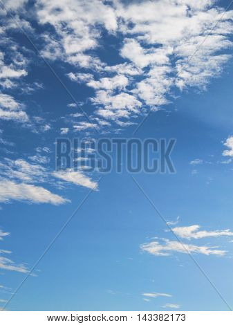 Blue Sky And Beautiful Cloud As Background