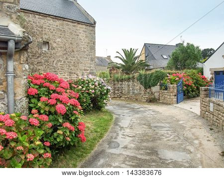 impression of Plouharnel a commune in the Morbihane department of Brittany in France