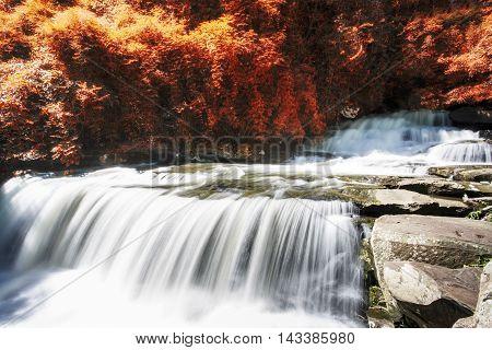 Than Thong Waterfall in Amphur Sungkom Nongkhai Thailand