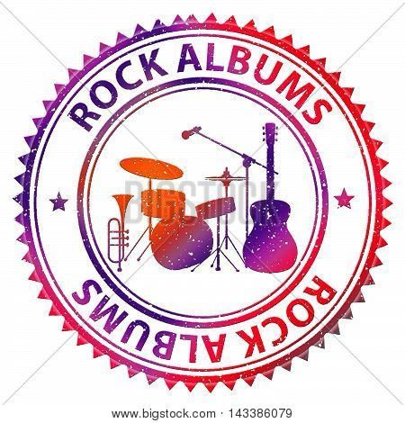 Rock Albums Shows Cd Collection And Music