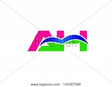 AH logo. AH company linked letter logo