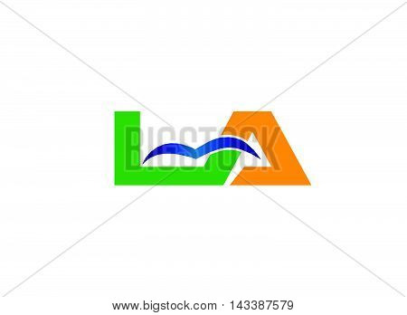 Letter a and L logo vector design