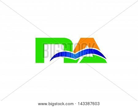 AN company linked letter logo design template