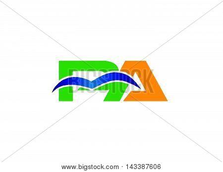 AP logo. Elegant black and gold alphabet A and P letter logo. Vector illustration