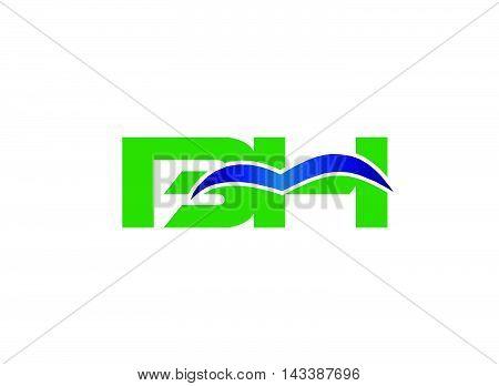 HB logo. HB company group linked letter logo