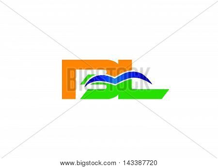 Letter B and L logo vector design template