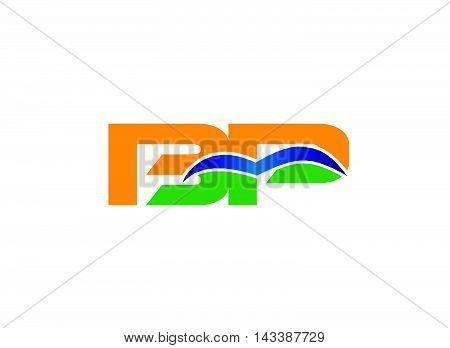 BP logo. BP company group linked letter logo