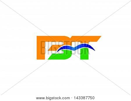 Letter B and T logo vector design