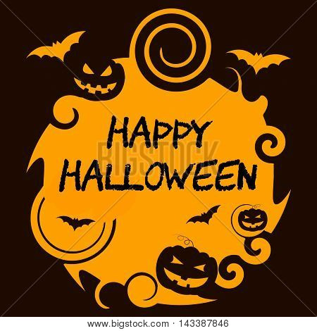 Happy Halloween Shows Trick Or Treat And Horror