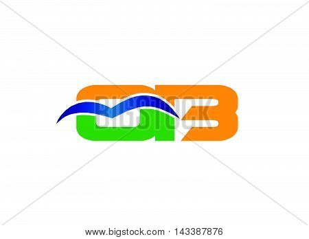 OB initial company group logo design template