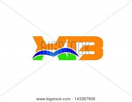 HB logo. HB company linked letter logo