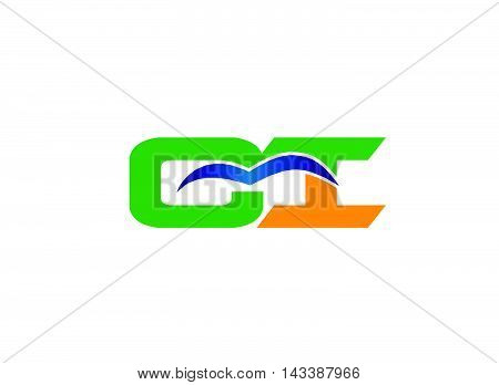 iC logo. iC company group linked letter logo
