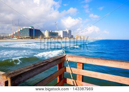 Daytona Beach in Florida coastline of USA