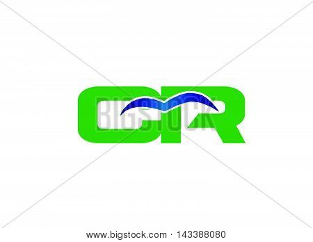 CR logo. CR company linked letter logo
