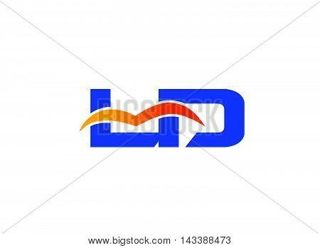 Letter L and D logo. LD company linked letter logo