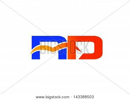 Letter R and D logo. RD company linked letter logo