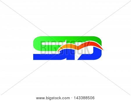 Letter S and D logo. SD company linked letter logo