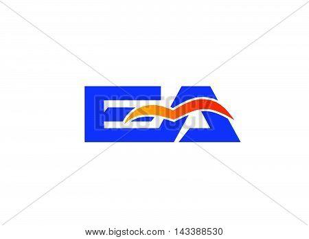 EA Logo. EA company linked letter logo