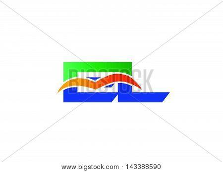 EL Logo. EL company linked letter logo