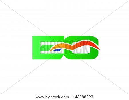 EQ Logo. EQ company linked letter logo