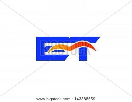 ET Logo. ET company linked letter logo