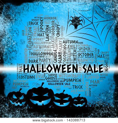 Halloween Sale Means Offer Reductions And Promotion
